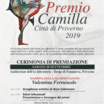 Premio Camilla – Città di Priverno 2019 L'evento…
