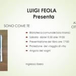 """""""Sono come te"""": la presentazione del libro di Luigi Feola presso la Sala Manzù."""