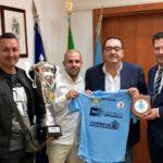 Il Sindaco riceve i campioni italiani dell'ASD Aprilia Calcio Balilla.