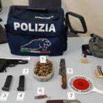 Questura di Latina: detiene pistola con matricola abrasa e munizioni. Arrestato.
