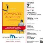 """Domani pomeriggio la presentazione del libro """"Advanced Advisory""""."""