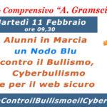 Domani l'I.C. Gramsci in piazza per #InMarciaControBullismoeCyberbullismo.