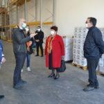 Il Ministro Bellanova in visita al Banco Alimentare di Aprilia.