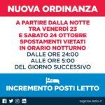 Covid: da domani nel Lazio no agli spostamenti tra le 24 e le 5.