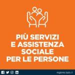 Assistenza sociale per persone fragili durante il Covid: stanziati 39 milioni.