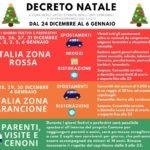 Nuovo Decreto Legge, Italia in zona rossa da Natale all'Epifania.