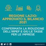 Regione Lazio, ok alla riduzione dell'Irpef e delle tasse per le imprese.