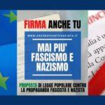 """""""Mai più fascismo e nazismo"""": l'ANPI promuove la raccolta firme."""