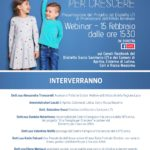 Una famiglia per crescere: si ricorda l'evento del 15 febbraio online.