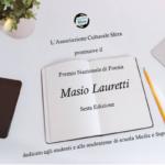 """Aperte le iscrizioni per il Premio Nazionale di Poesia """"Masio Lauretti""""."""