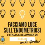 Facciamo luce sull'endometriosi, da stasera statua di San Michele illuminata di giallo