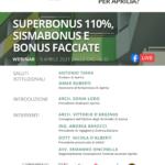 Superbonus, Sismabonus e bonus facciate: il webinar di ASSINARCH.