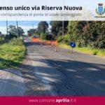 Aprilia, via Riserva Nuova: istituito senso unico di marcia.