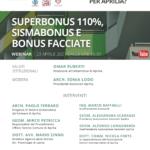 Aprilia: venerdì il secondo webinar sul Superbonus 110%, Sismabonus e bonus facciate.