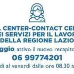 Regione Lazio: nuovo numero telefonico del Call center dei servizi per l'impiego.