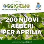 Regione Lazio, Ossigeno: 200 nuovi alberi per Aprilia.