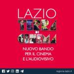 Regione Lazio: al lavoro per bando cinema e audiovisivo.