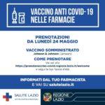Vaccino Covid: da oggi via a prenotazioni nelle farmacie (J&J).