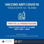 Vaccini Covid, da oggi nel Lazio prenotazioni per fascia 12-16 anni.