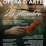 """'La Natura a opera d'Arte"""" domenica 26 settembre al Parco Mola della Corte-Settecannelle-Capodacqua."""