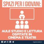 Regione Lazio, bando per strutture che ospiteranno spazi per i giovani.