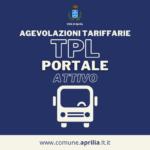 Aprilia, di nuovo attivo il portale per le agevolazioni tariffarie TPL.